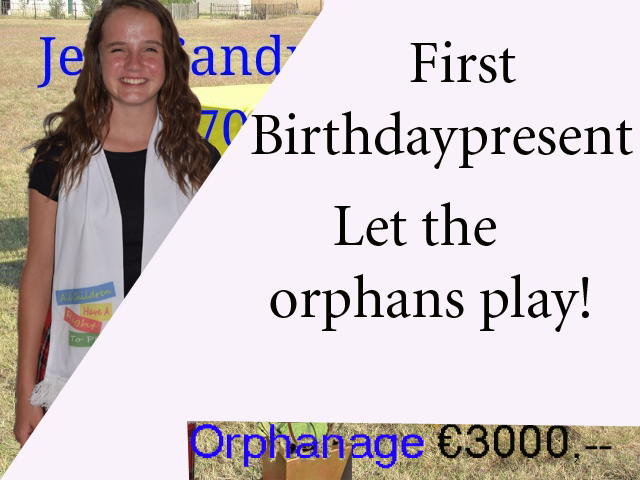 A new playground as present for Amira's Birthday. Please a small donation into https://www.gelukskinders.org/shop/Amira-sweet-little-16-birthday-gifts-p174452740
